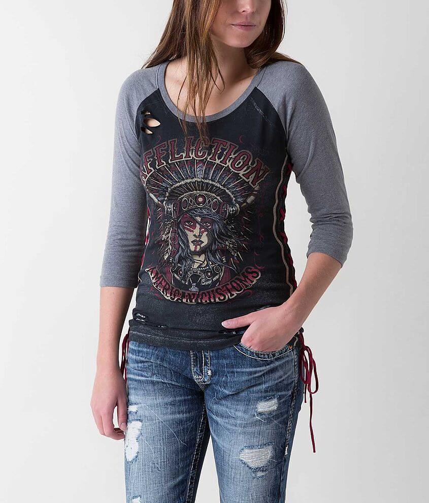 Affliction American Customs Native Girl T-Shirt front view