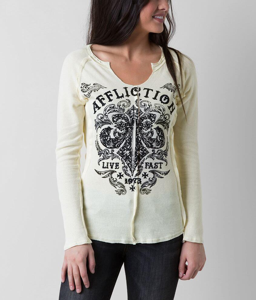 Affliction Dark Consequence Thermal Top front view