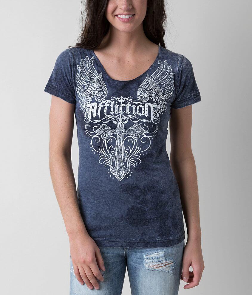 Affliction Parish Devout T-Shirt front view