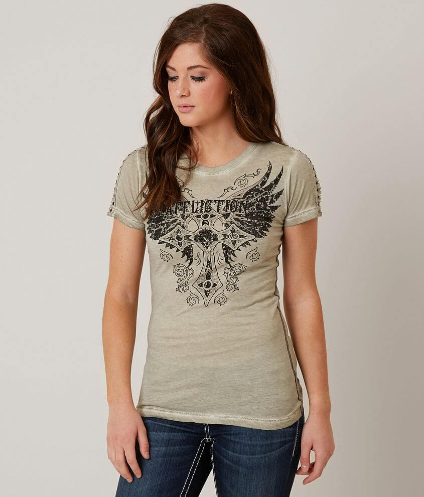Affliction Margo Baby T-Shirt front view