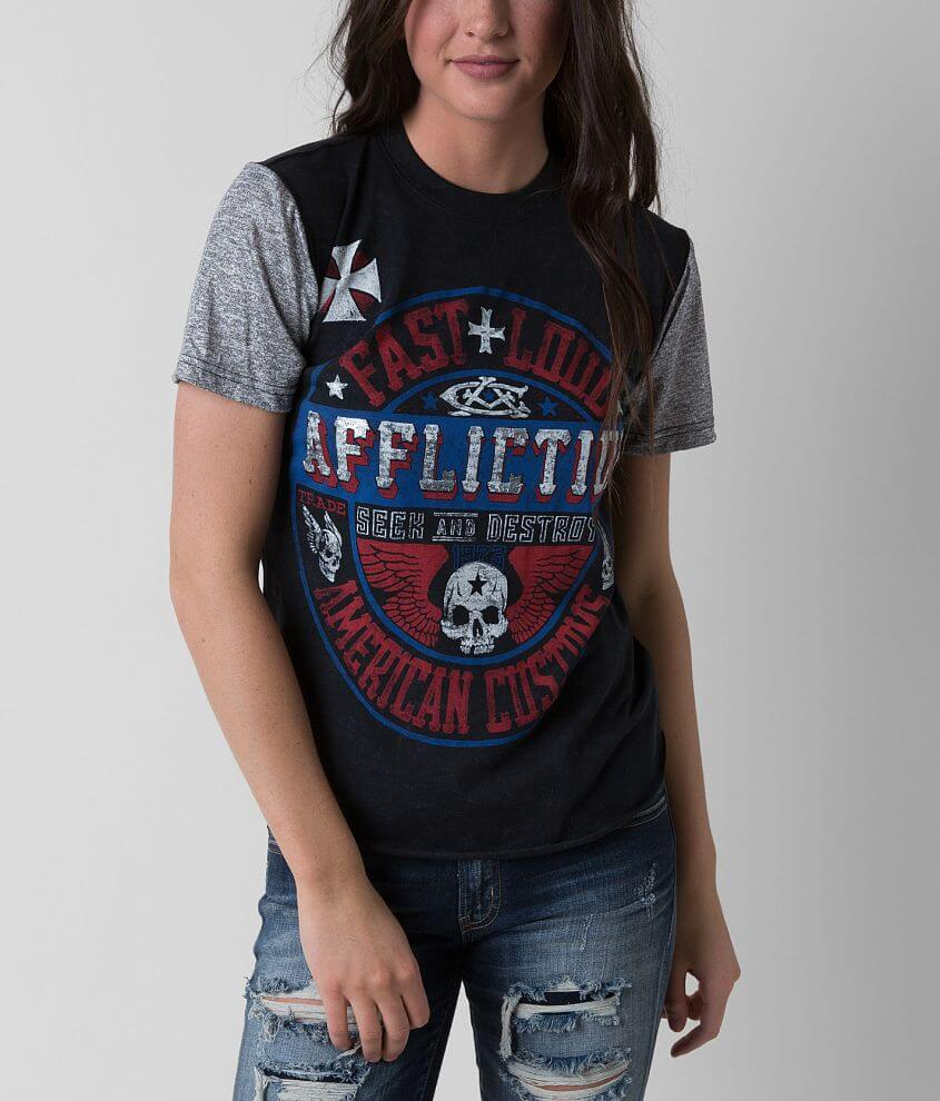 Affliction American Customs Volume T-Shirt front view