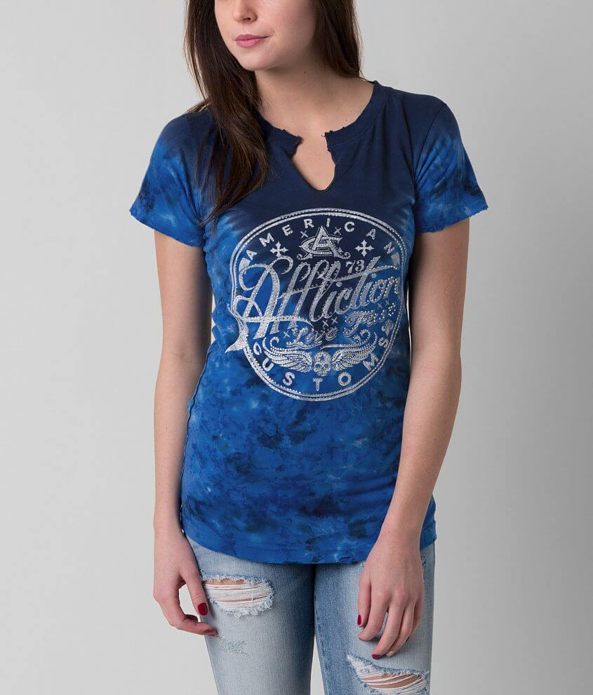 Affliction American Customs Oil Can T-Shirt front view