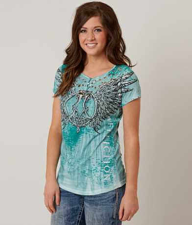 Affliction Romanesque Henley Top