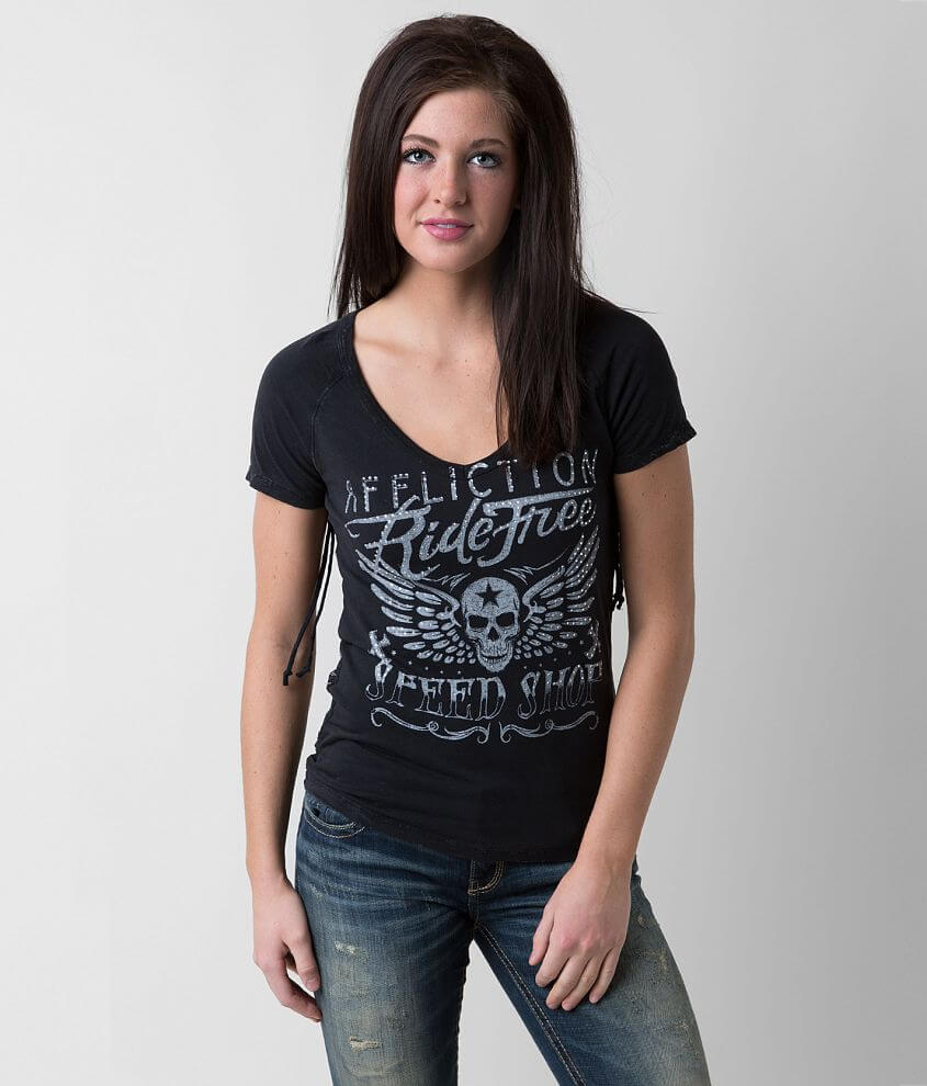 Affliction Ride Free T-Shirt front view