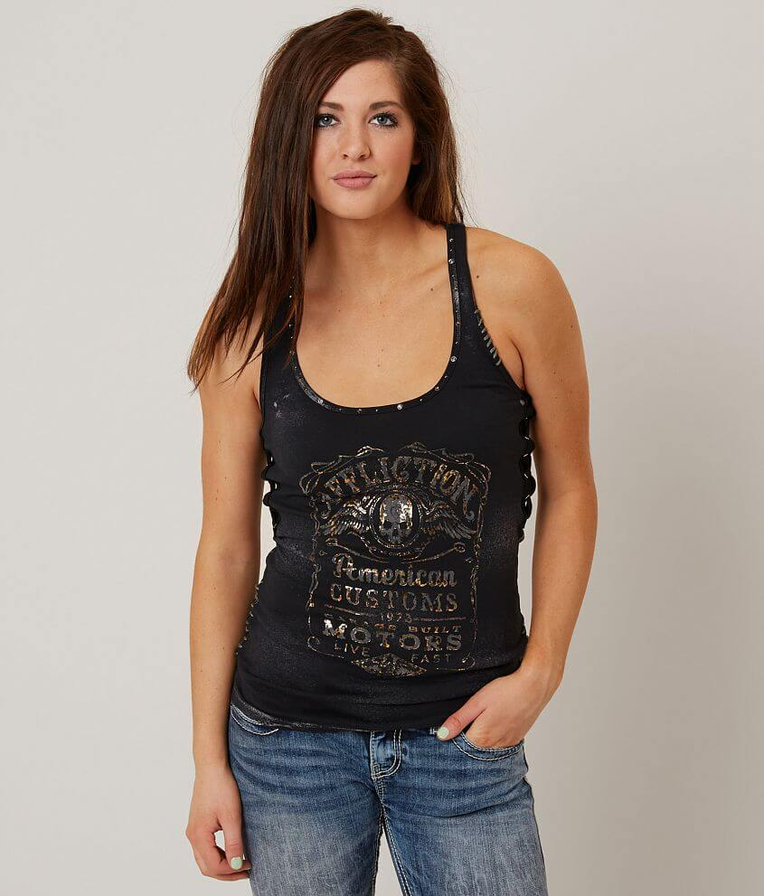 Affliction American Customs Fine Aged Tank Top front view