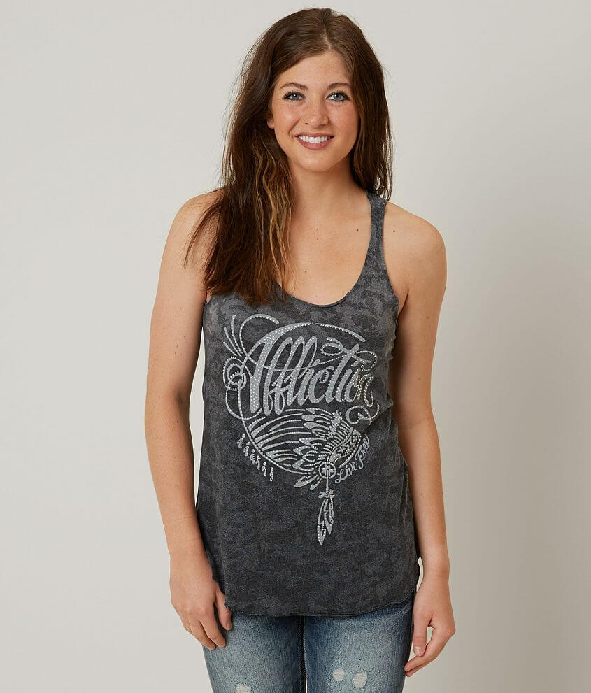 Affliction Pawnee Tank Top front view