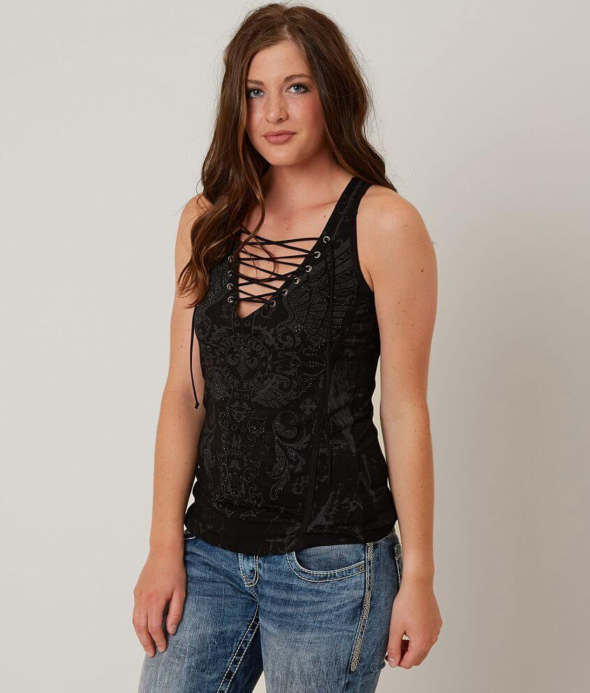 Affliction Battle Zone Tank Top front view