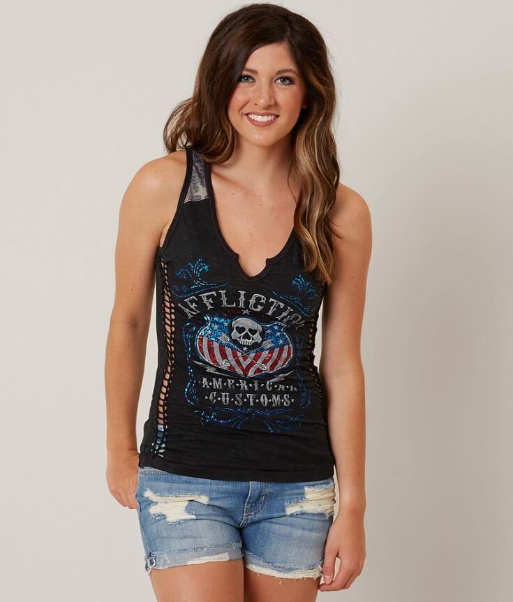 Affliction American Customs Whiskey Sour Tank Top
