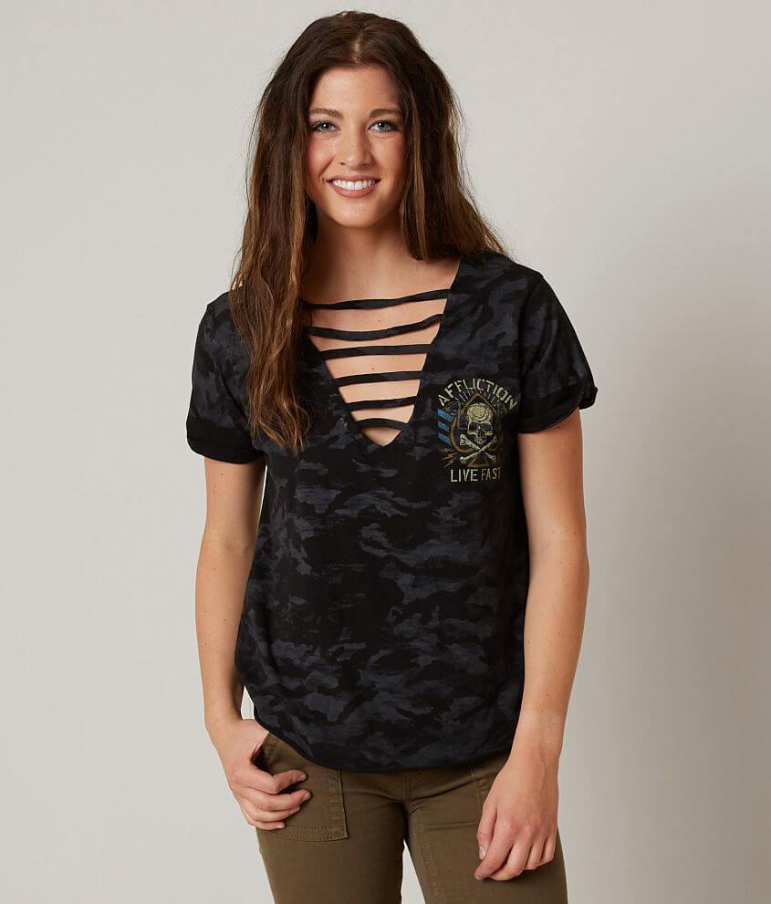 Affliction Black Ace T-Shirt front view