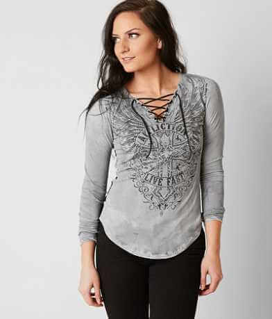 Affliction Edenberry Cross Top