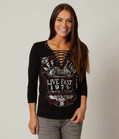 Affliction American Customs Fire Water Top