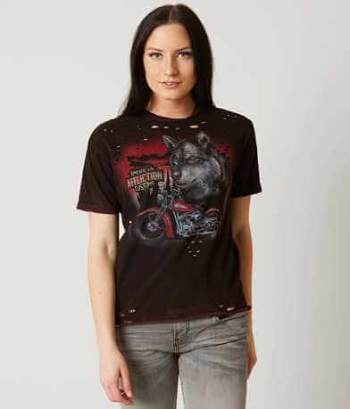 Affliction American Customs Wolf Motors T-Shirt