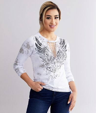 Affliction Stamped Wings T-Shirt