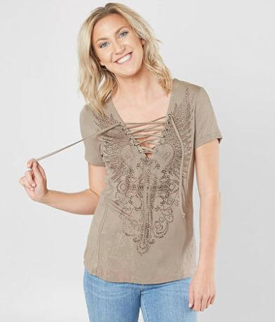 Affliction Amerelle Diamonds Top