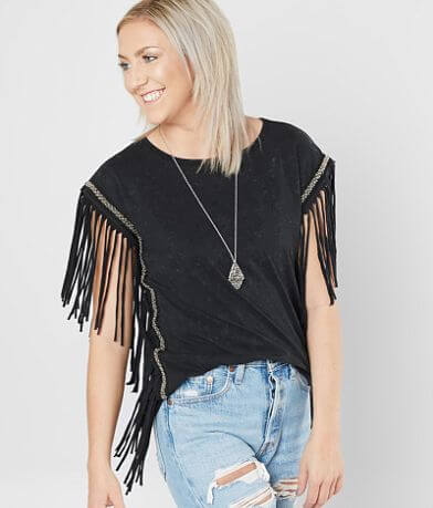 Affliction American Customs Fringe Top