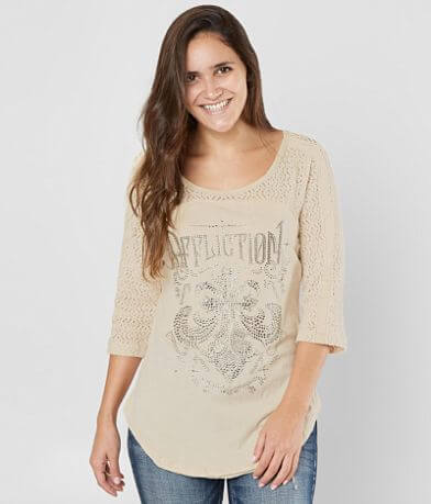 Affliction Corroded Diamonds Top