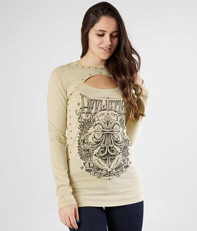 Affliction Corroded Cut-Out T-Shirt