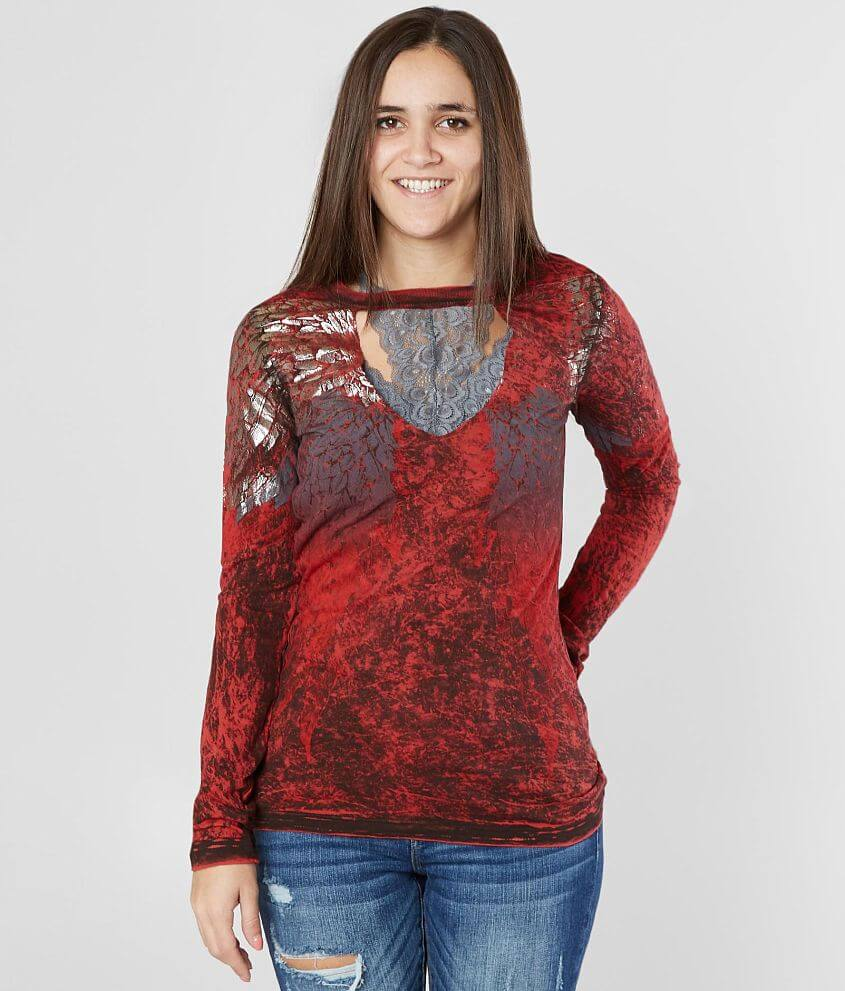Affliction Age Of Winter Reversible T-Shirt front view