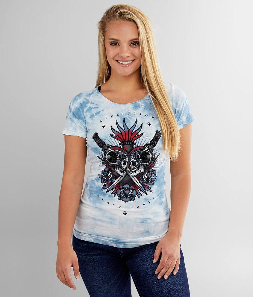 Affliction Alley Brawl T-Shirt front view