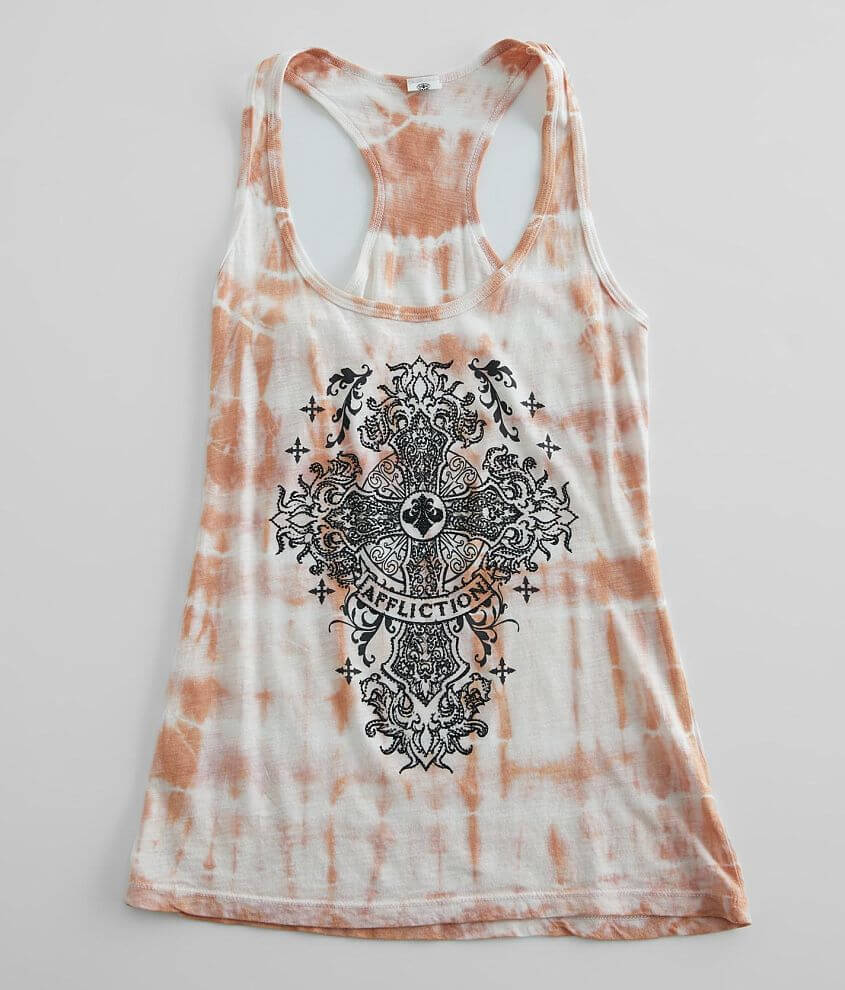Affliction Homily Racerback Tank Top front view