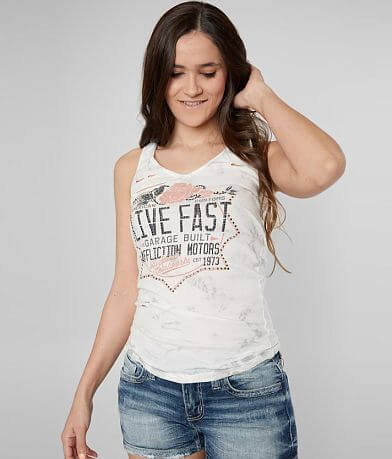 Affliction American Customs Speed Rose Tank Top