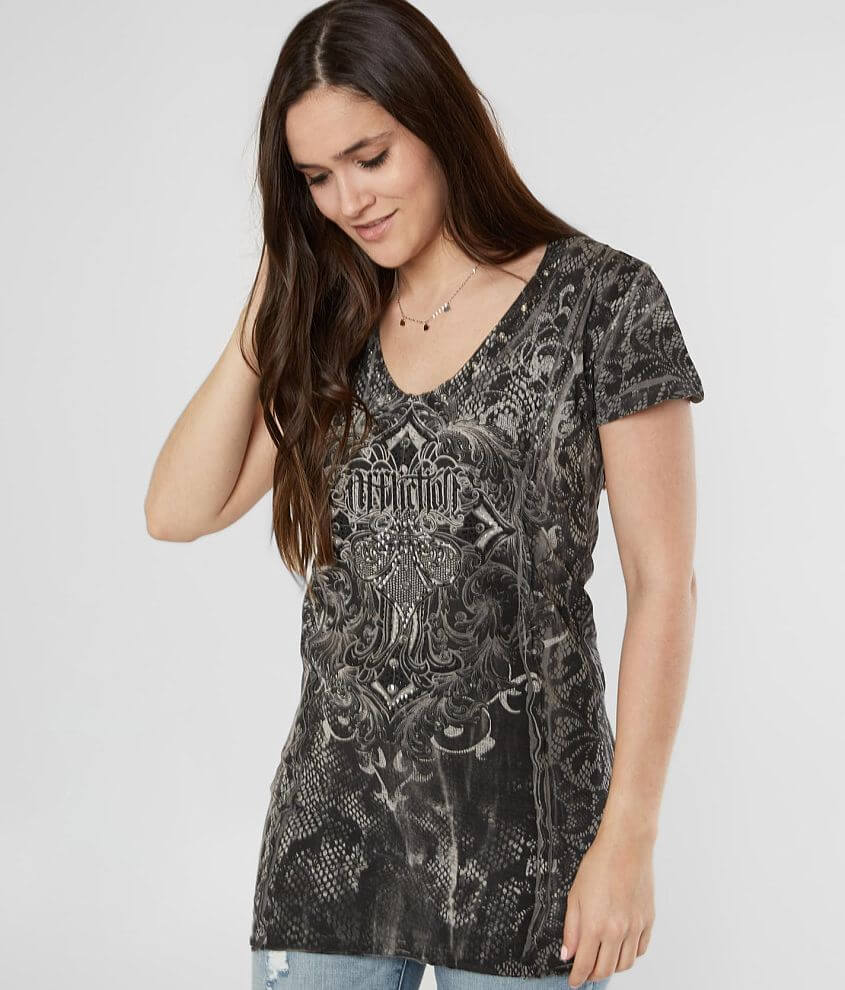 Affliction Soul Promise Strappy Top front view