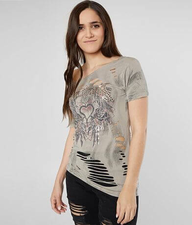 Affliction Pierced Heart Tour T-Shirt