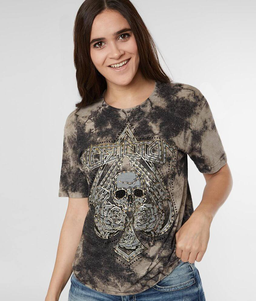 Affliction Hollow Point Washed T-Shirt front view