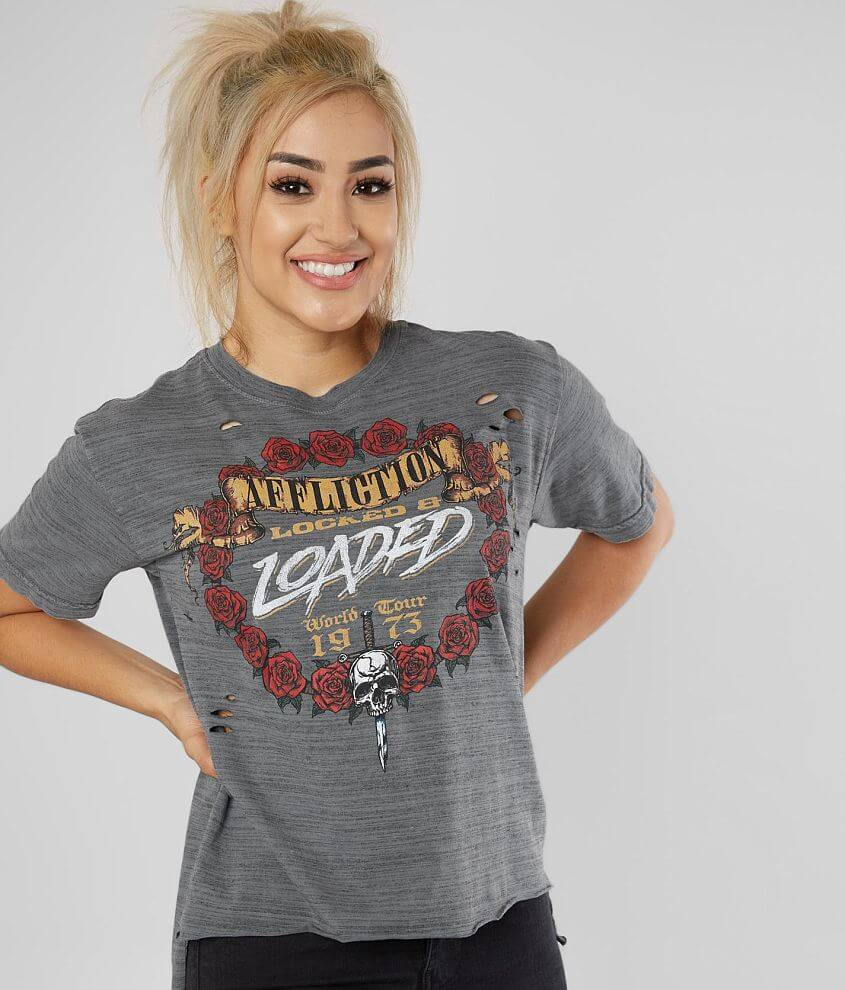 Affliction American Customs Nightrain T-Shirt front view