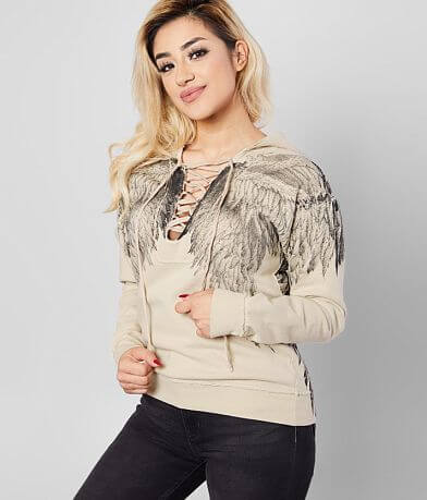 Affliction Isadora Diamonds Hooded Sweatshirt