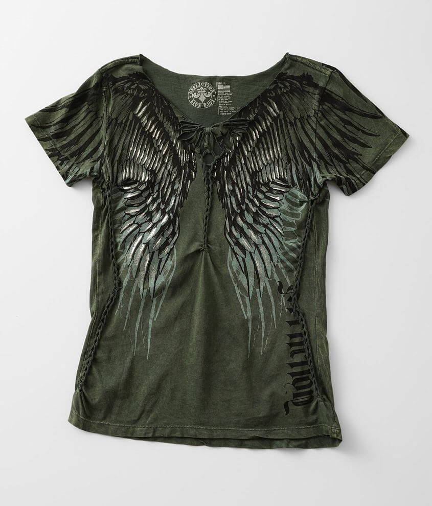 Affliction Eyes Of Winter T-Shirt front view
