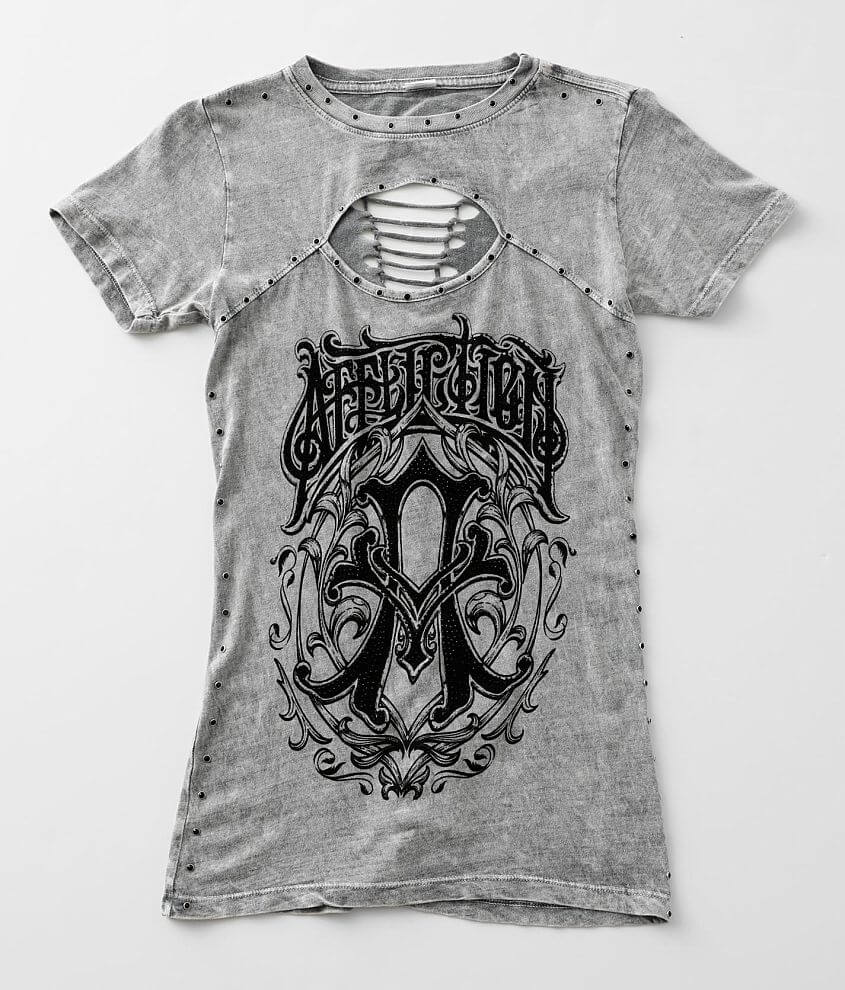 Affliction Iconic Steel T-Shirt front view