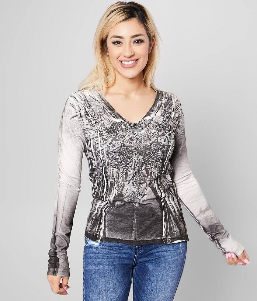 Affliction Alondra T-Shirt front view