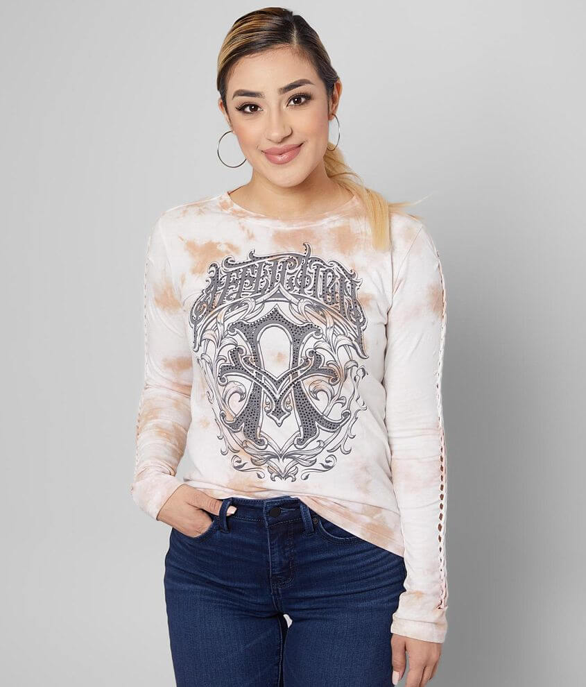 Affliction Iconic Steel Baby T-Shirt front view