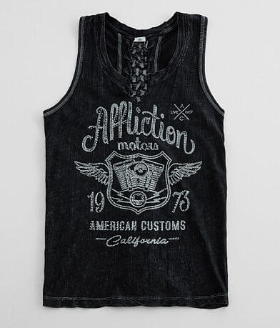 Affliction American Customs CA Motors Tank Top