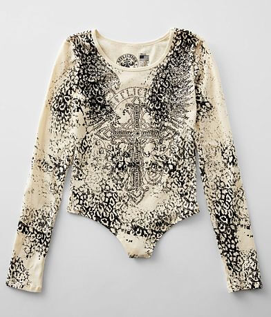 Affliction Amberelle Diamonds Bodysuit