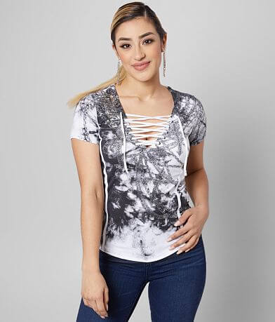Affliction Bound Lace-Up T-Shirt