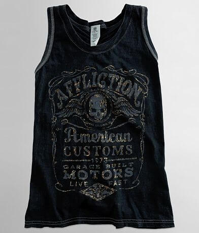 Affliction American Customs Fine Aged Tank Top