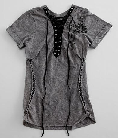 Affliction Spiker Lace-Up T-Shirt