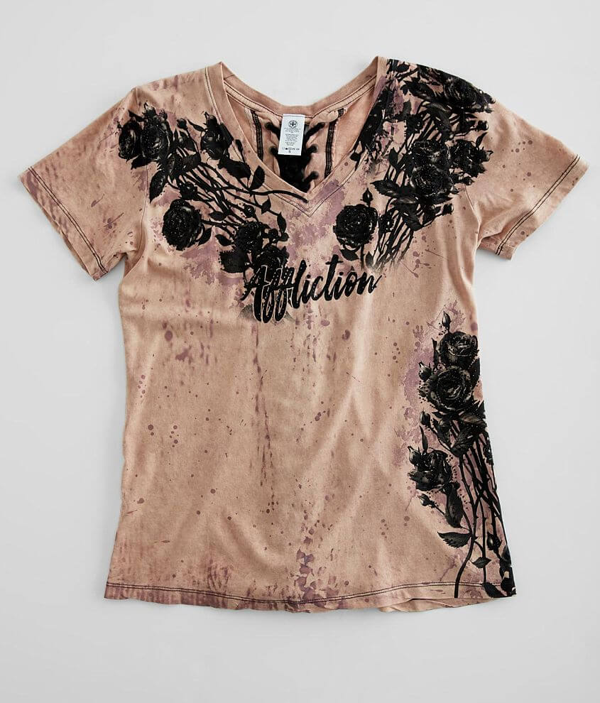 Affliction Provo V-Neck T-Shirt front view