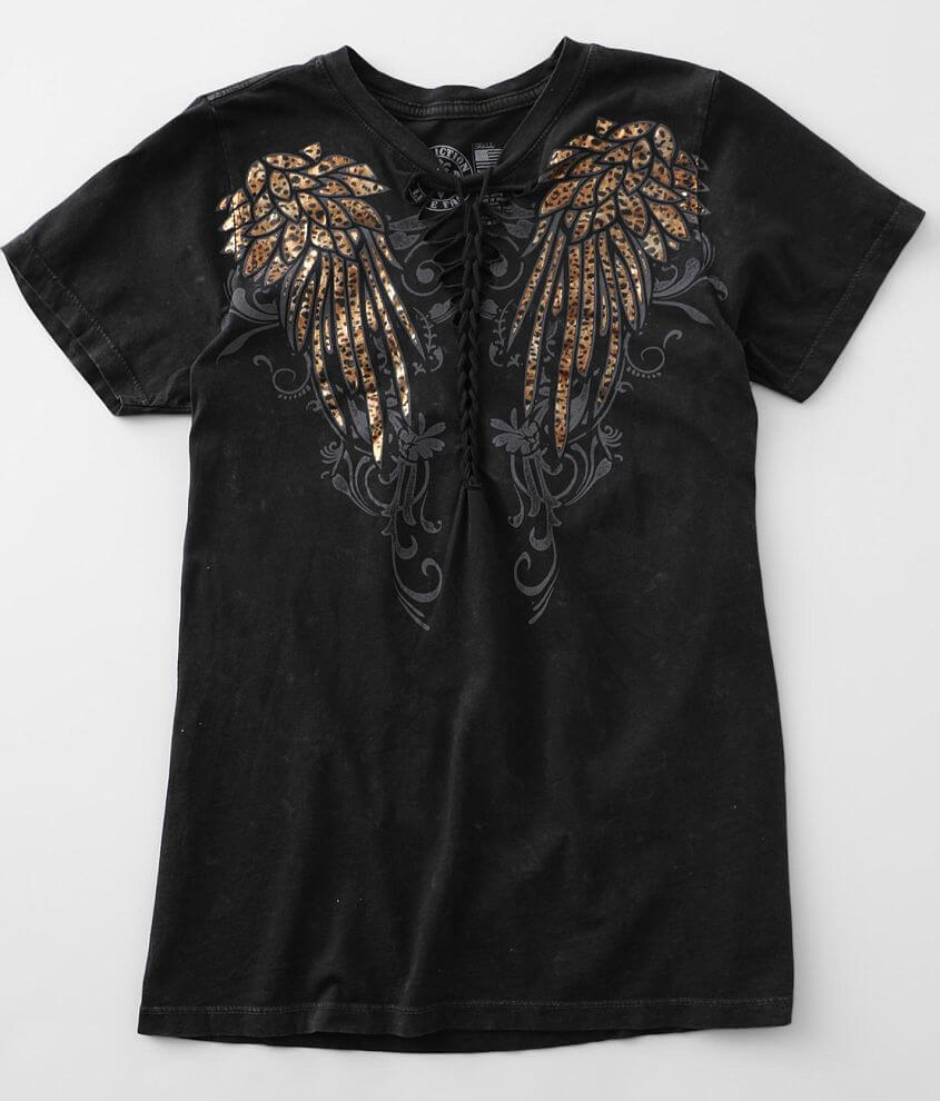 Affliction Angelic Wings T-Shirt front view