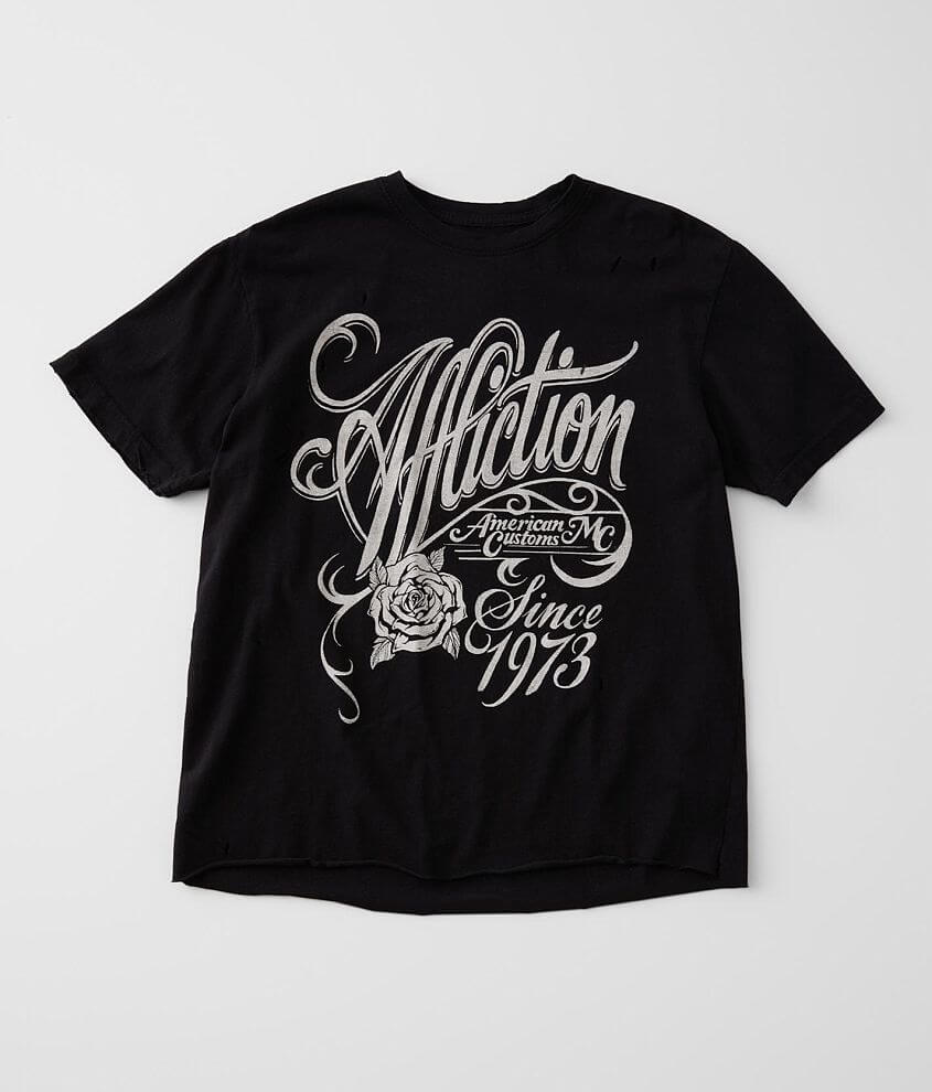 Affliction American Customs Watermark Rose T-Shirt front view