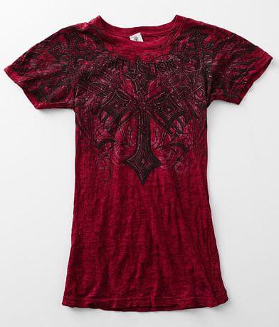 Affliction Priscilla Burnout T-Shirt