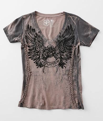 Affliction Rose Feather T-Shirt
