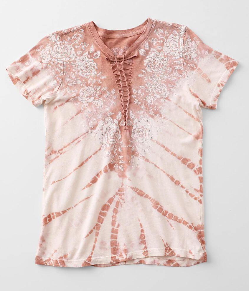 Affliction Rose Vine T-Shirt front view