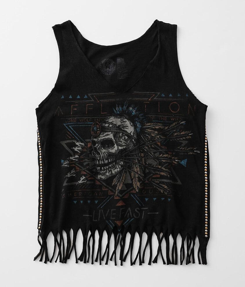 Affliction American Customs Mohawk Tank Top front view