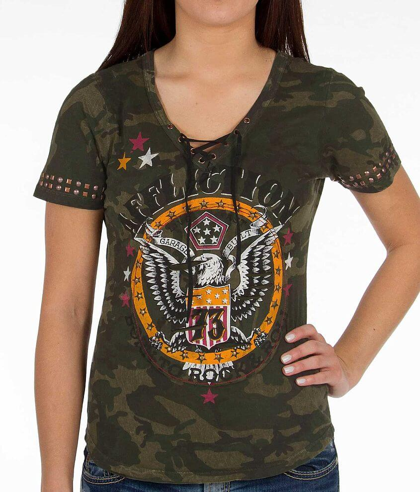 Affliction American Customs Born To Rock T-Shirt front view