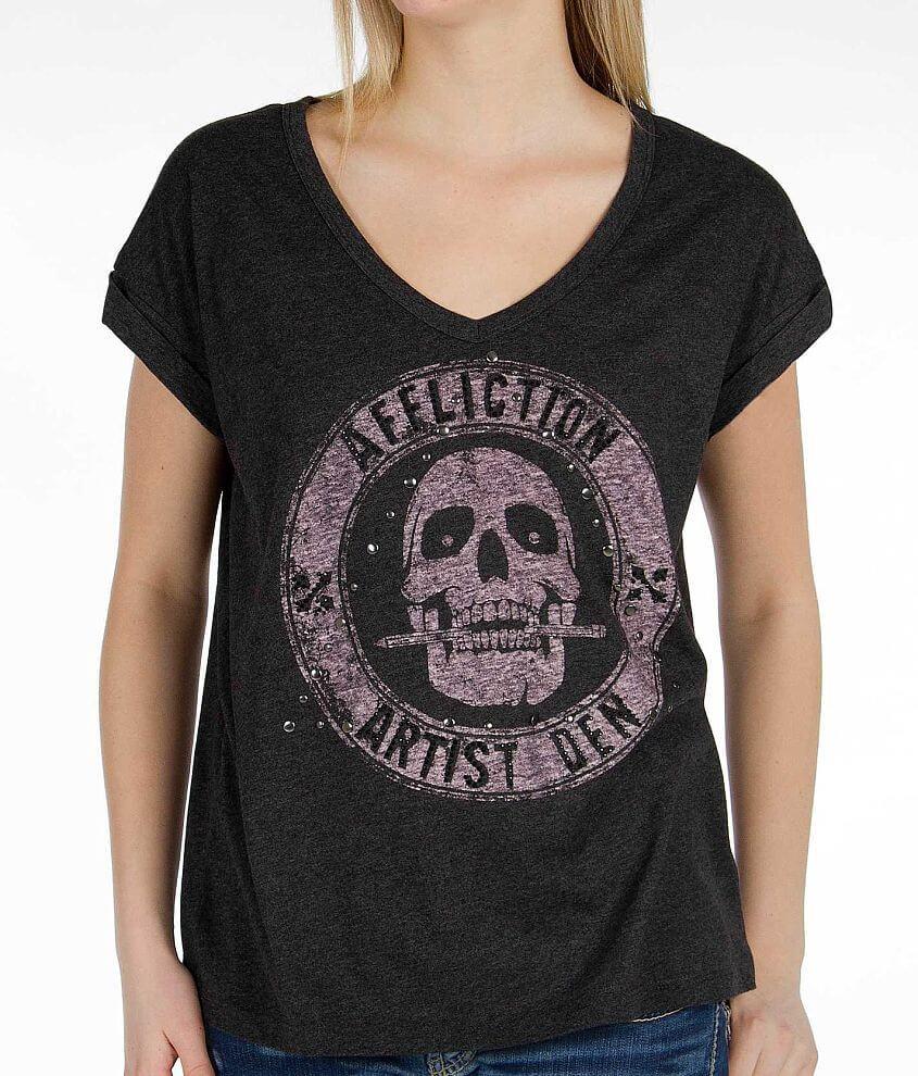 Affliction Artist Den T-Shirt front view