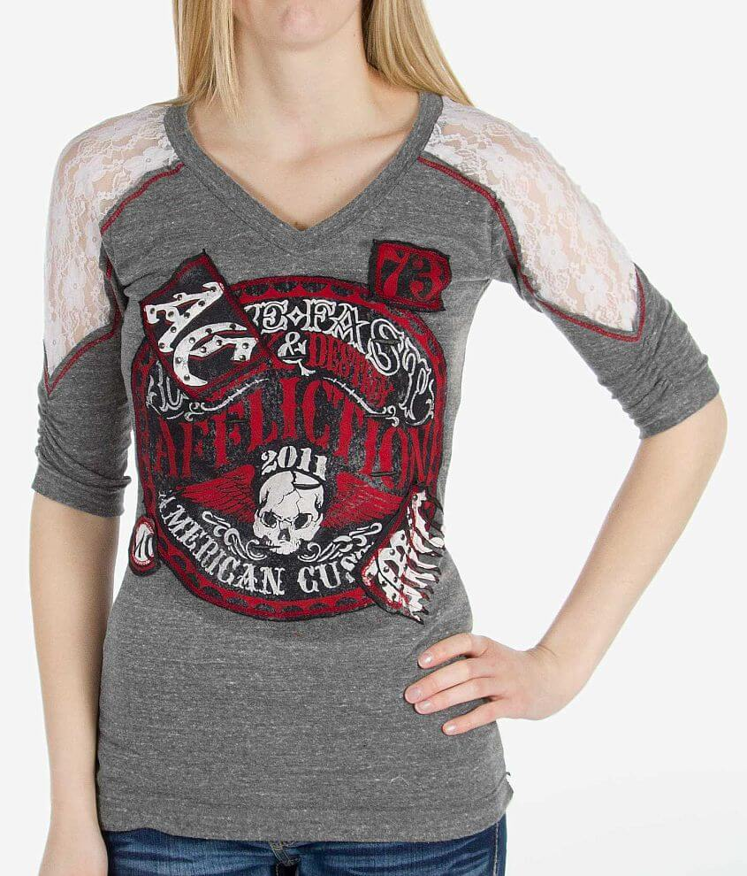 Affliction American Customs Live Fast Seal T-Shirt front view