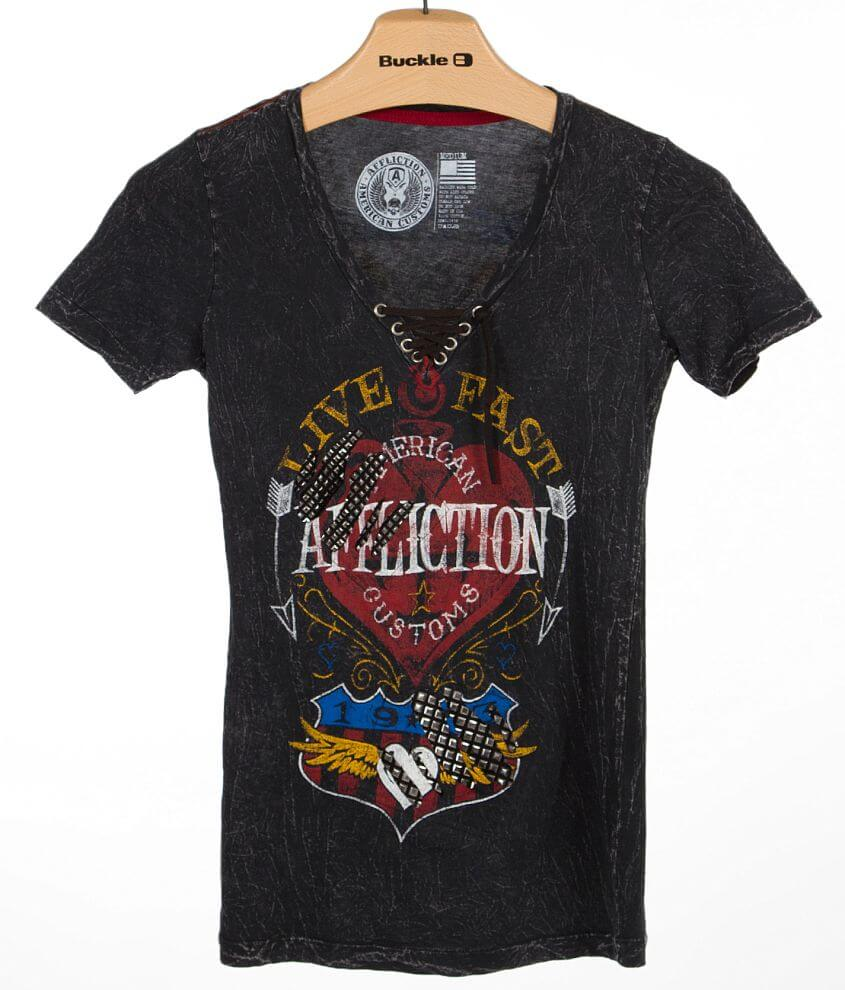 Affliction American Customs Sunset T-Shirt front view